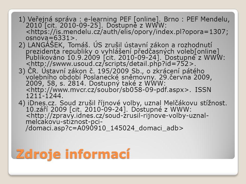 1) Veřejná správa : e-learning PEF [online]